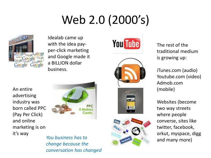 Web 2.0 (2000's)