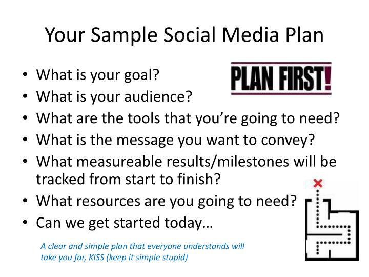 Your Sample Social Media Plan