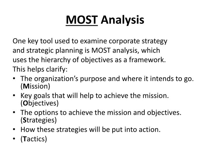 an analysis of mission statement of organizational goals and objectives Goals objectives strategies  the stages in this process are mission statement, goals and objectives, business  market analysis goals and objectives powerpoint.