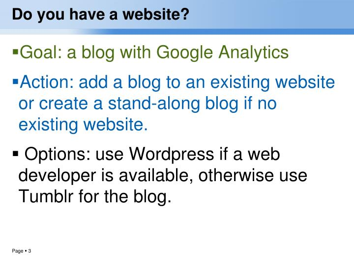 Do you have a website?