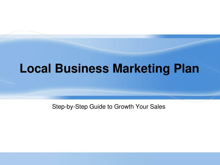 Local business marketing plan