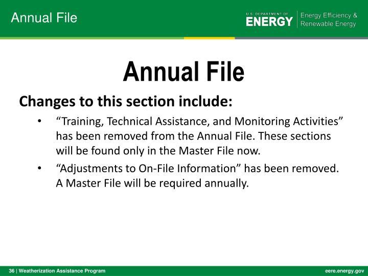 Annual File