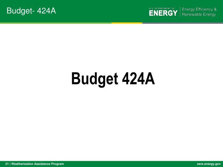 Budget- 424A