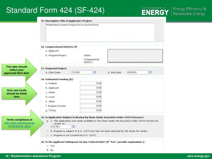 Standard Form 424 (SF-424)