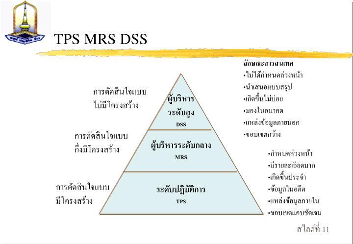 TPS MRS DSS
