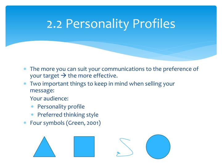 2.2 Personality Profiles