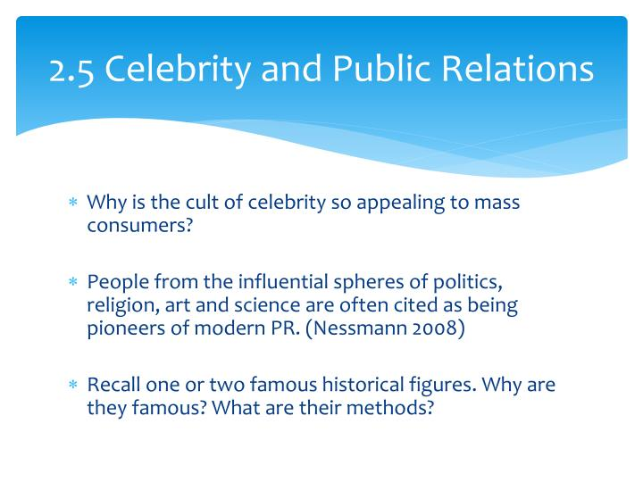 2.5 Celebrity and Public Relations
