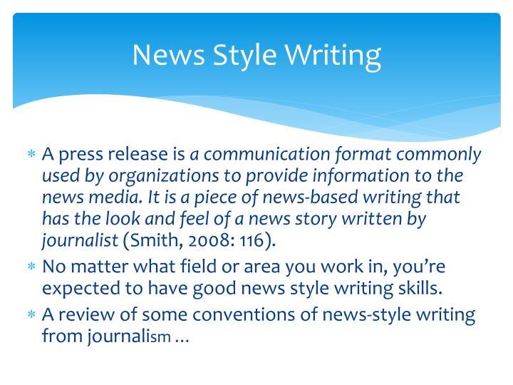 News Style Writing