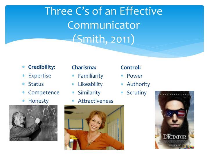 Three C's of an Effective Communicator