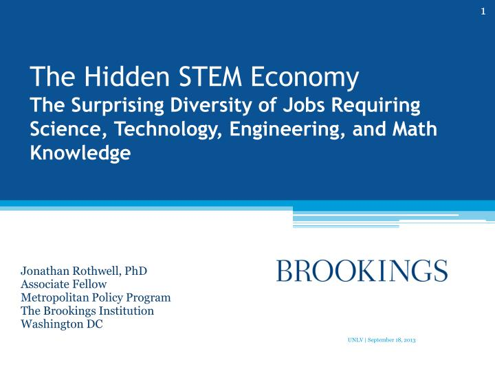 The Hidden STEM Economy