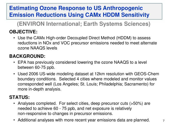 Estimating Ozone Response to US Anthropogenic Emission Reductions Using
