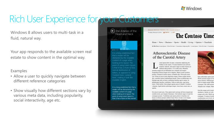 Rich User Experience for your Customers