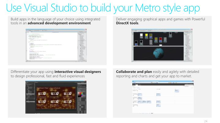 Use Visual Studio to build your Metro style app