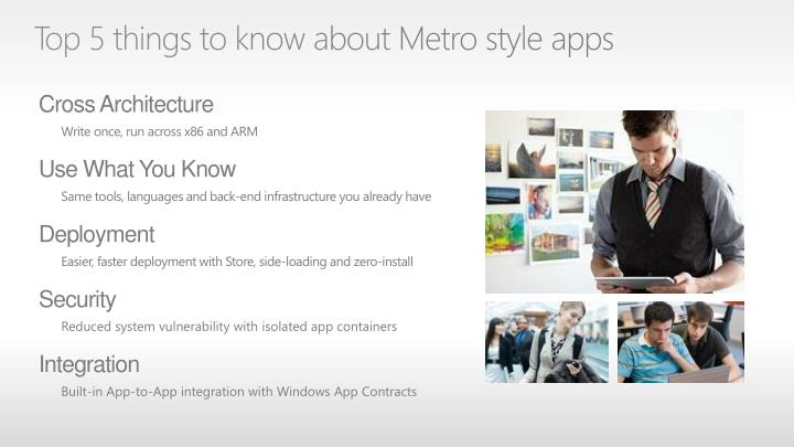 Top 5 things to know about Metro style