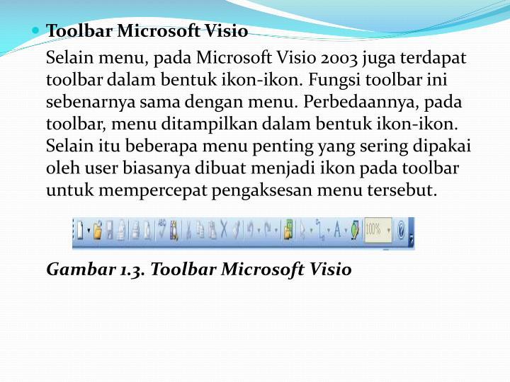 Toolbar Microsoft Visio