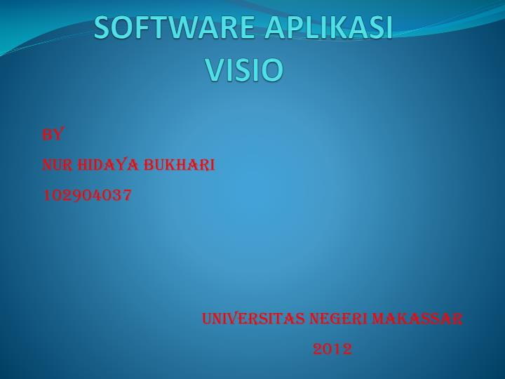 Software aplikasi visio