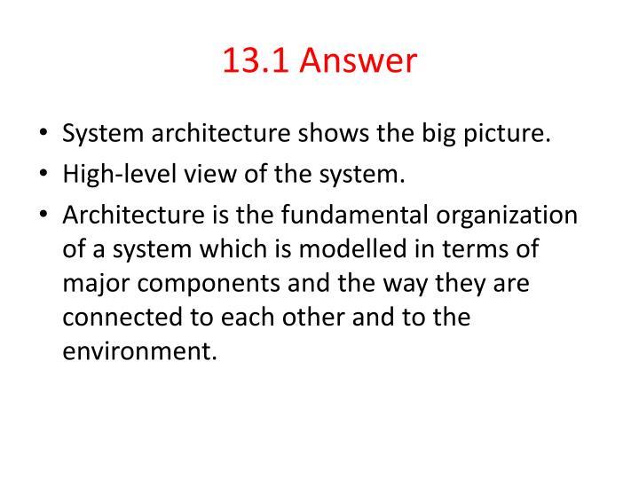 13.1 Answer