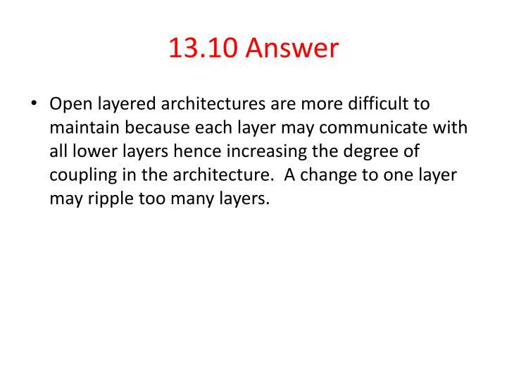13.10 Answer