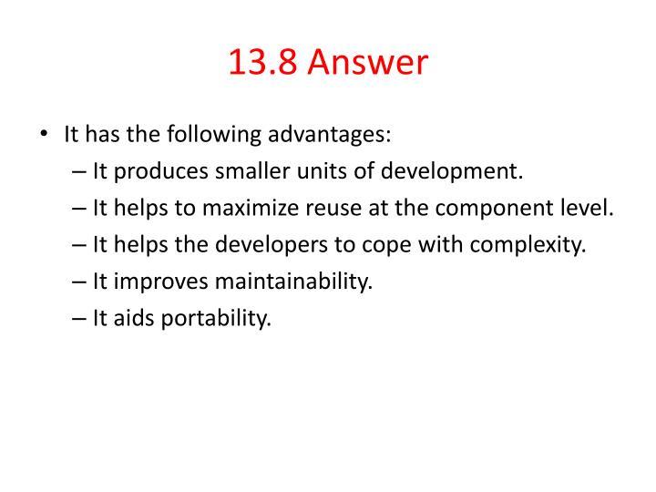 13.8 Answer
