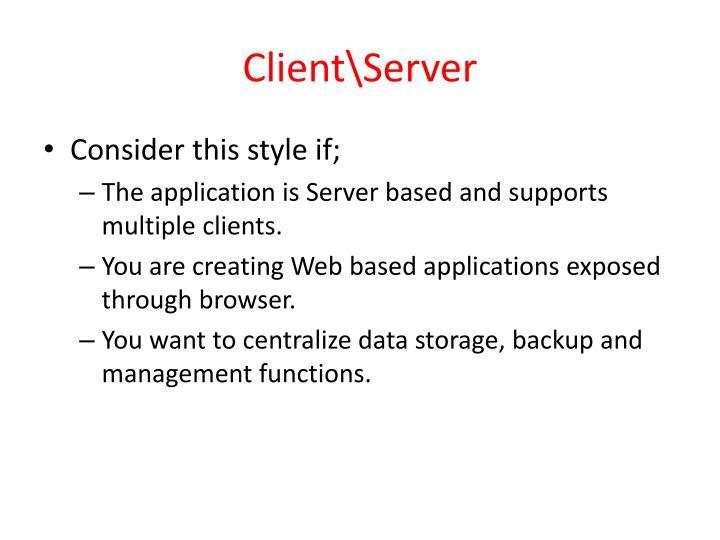 Client\Server
