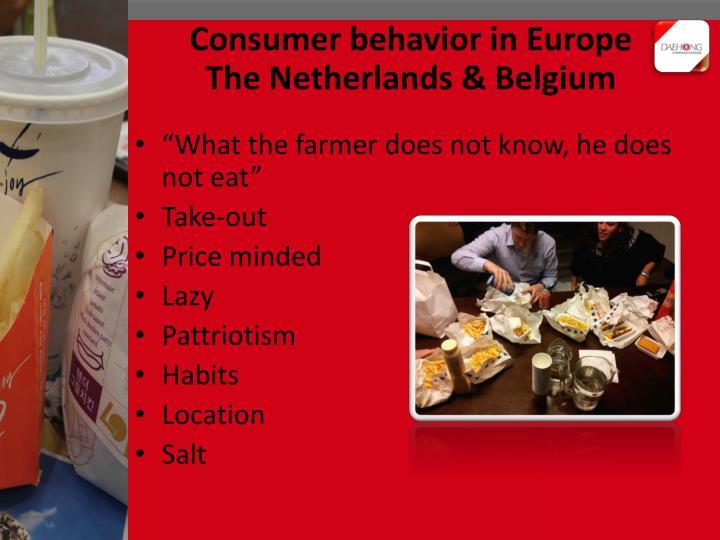 Consumer behavior in