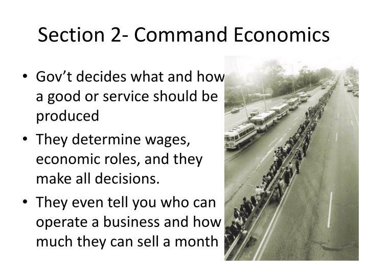 Section 2- Command Economics