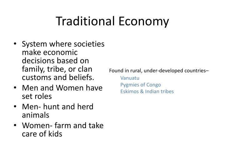Traditional Economy