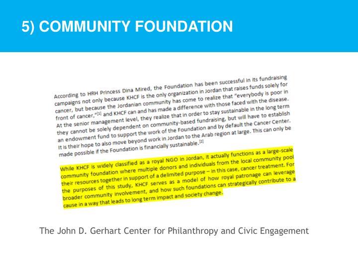 5) Community Foundation