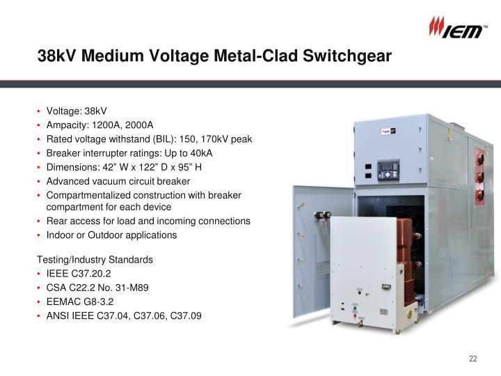 38kV Medium Voltage Metal-Clad Switchgear