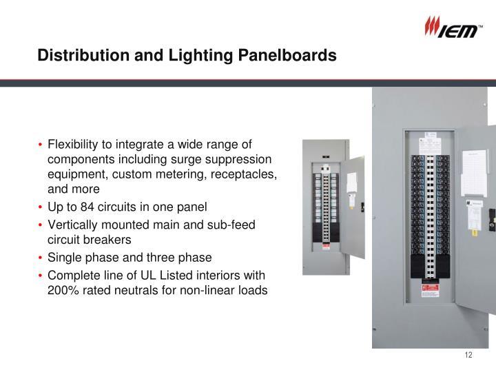Distribution and Lighting Panelboards