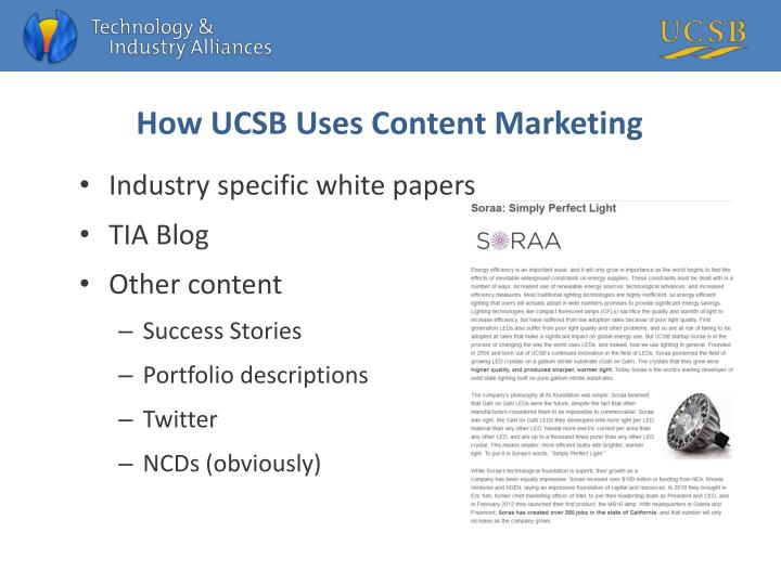 How UCSB Uses Content Marketing