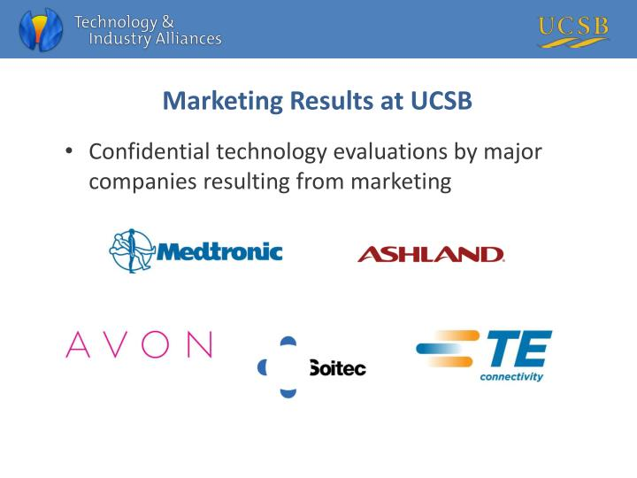 Marketing Results at UCSB