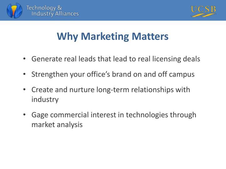 Why Marketing Matters