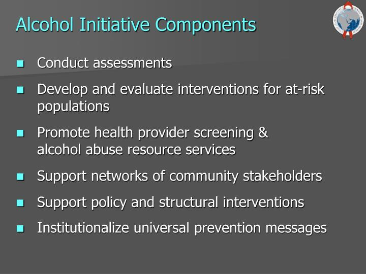 Alcohol Initiative Components