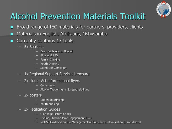 Alcohol Prevention Materials Toolkit