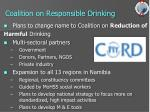 coalition on responsible drinking