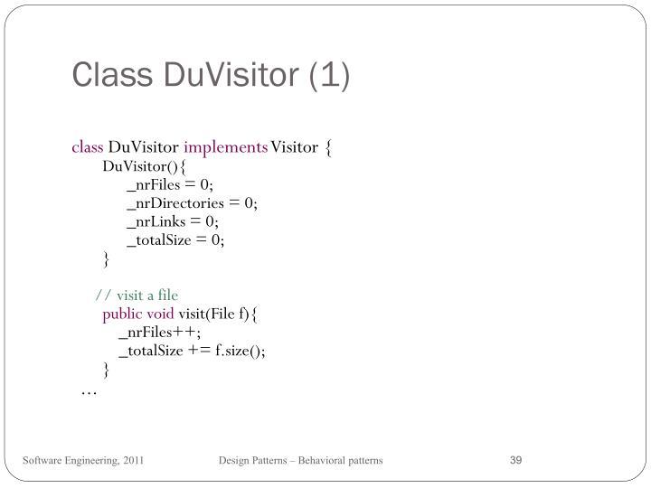 Class DuVisitor (1)