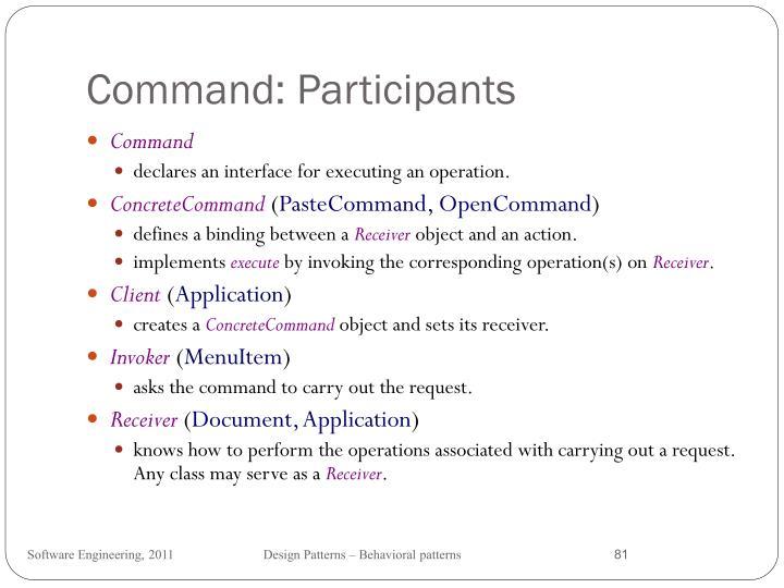 Command: Participants