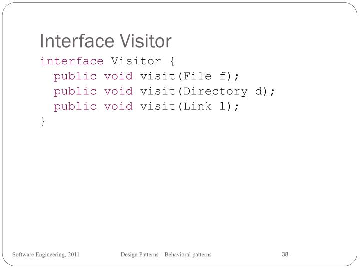 Interface Visitor