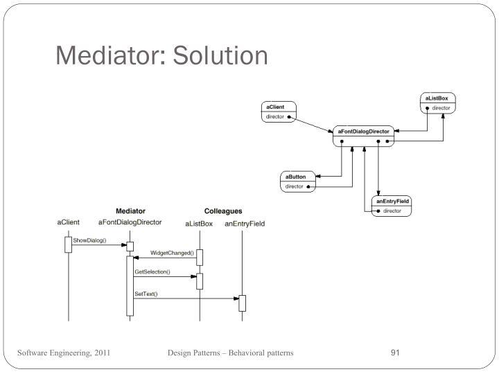 Mediator: Solution