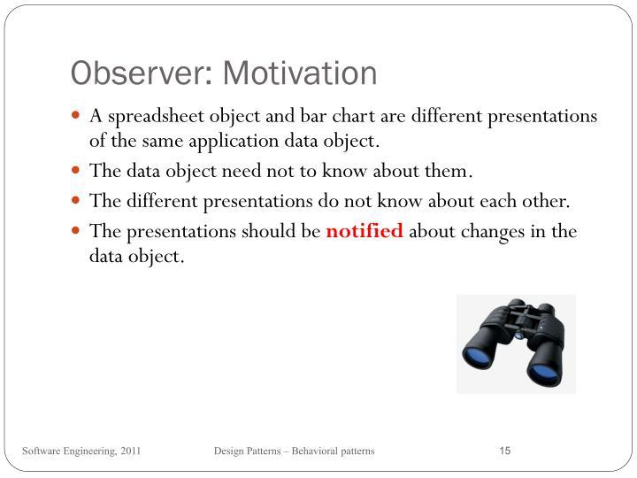 Observer: Motivation