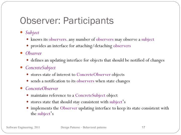 Observer: Participants