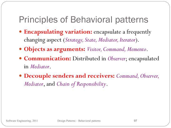 Principles of Behavioral patterns