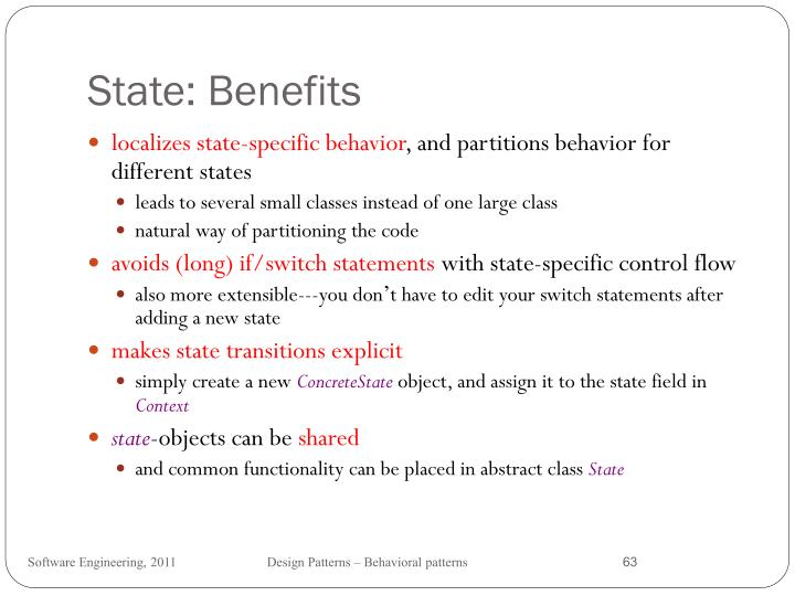 State: Benefits