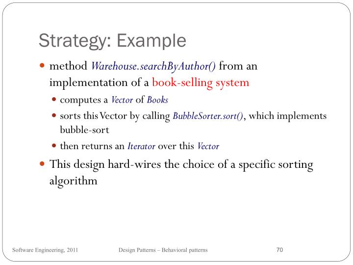 Strategy: Example