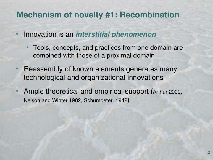 Mechanism of novelty #1: Recombination