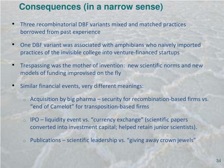Consequences (in a narrow sense)