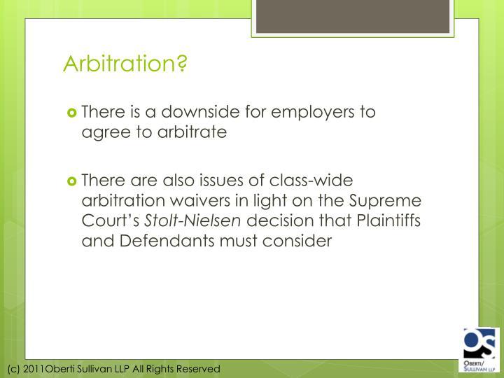 Arbitration?