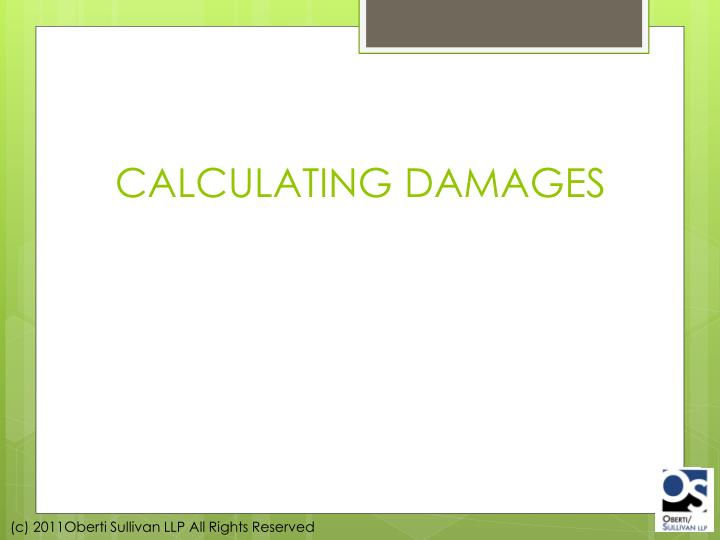 CALCULATING DAMAGES