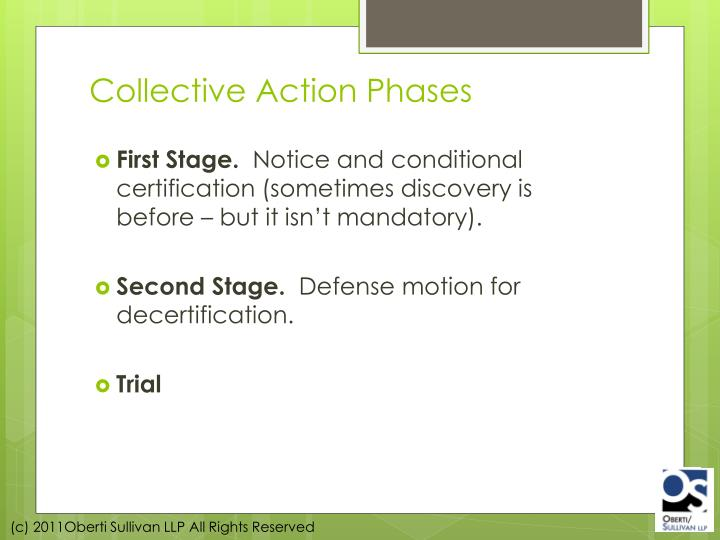 Collective Action Phases